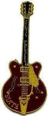 ELVIS PRESLEY Elvis Brown Guitar Embroidered Iron On PATCH OFFICIAL MERCHANDISE