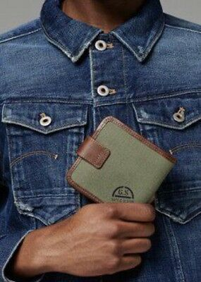 "G-STAR Raw ""MURRAY WALLET"" Color:SAGE Portefeuille NEUF/NEW Val:60€"