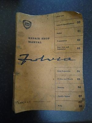 Original 1960's Lancia Fulvia Factory Workshop Manual with updates to 1966