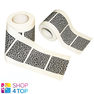 Toilet Paper Maze Labyrinth Tissue Roll Bathroom Puzzle Mind Game Soft White New