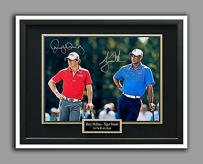 Rory McIlroy & Tigre Woods, Let The Rivalry Begin,Autograph Replica Glossy Photo