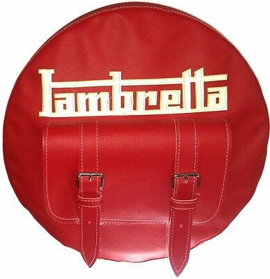 Lambretta Spare Wheel Cover With Pocket 10 Inch Hand Made Leather More Colours