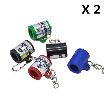 2 X NEW Cigarillo CIGAR CUTTER BLUNT SPLITTER KEY CHAIN