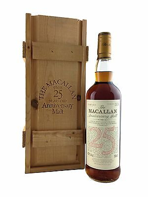 The Macallan 25 year old Anniversary Malt Scotch Whisky 70cl. 43%alc