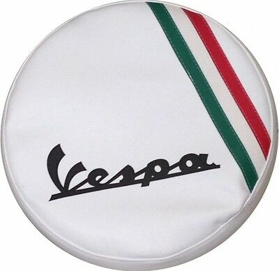Vespa Spare Wheel Cover Italian Flag Hand Made Leather More Colours