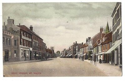 ST NEOTS High Street, Postcard by Rush & Warwick Postally Used 1906