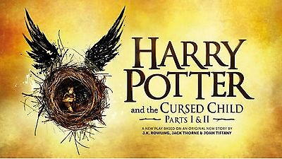 HARRY POTTER & THE CURSED CHILD,Tickets pour 2 pers, Parties 1&2, Juillet17