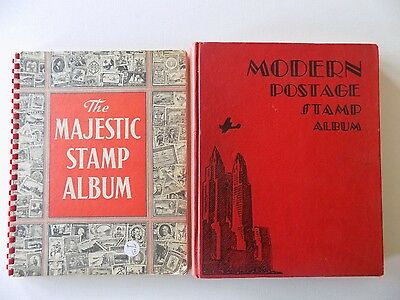 Modern Postage Stamp Album by Scott 1940 Stamps and  The Majestic Stamp Album 19