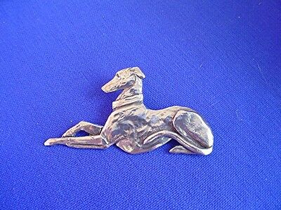 Whippet Greyhound Stylized pin #13B Pewter Hound Dog Jewelry by Cindy A. Conter