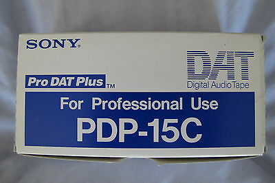 Sony PDP 15C Professional DAT Cassettes Box of 10 NEW Digital Audio Tapes