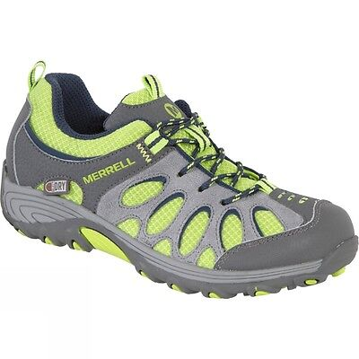 Merrell Youth's Chameleon Low Waterproof Hiking Shoe (Grey/Green)