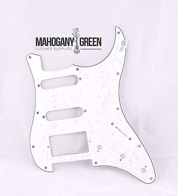 White Pearl Scratch plate Pick guard for Fender Strat Stratocaster HSS
