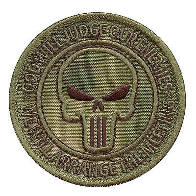 God Will Judge Our Enemies A-TACS FG morale Navy Seals Seal Team fastener patch