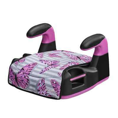 BOOSTER CAR SEAT Backless Top Side Youth Toddler Kids Safety Travel Butterfly