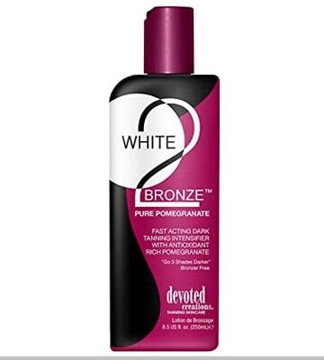 Devoted Creations WHITE 2 BLACK Pure Pomegranate Tanning Lotion - 250ml