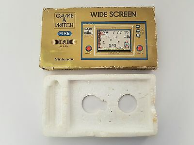 Vintage, Retro, Collectible Nintendo GAME & WATCH FIRE FR-27 BOX & POLY TRAY