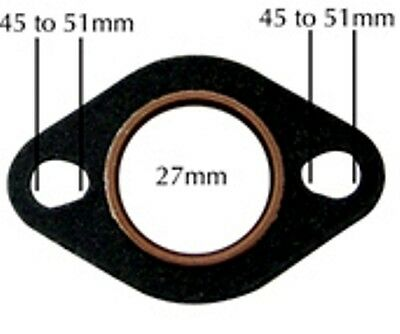 NCY COPPER/FIBER EXHAUST GASKET FOR 150cc GY6 AND 50cc QMB139 MOTORS