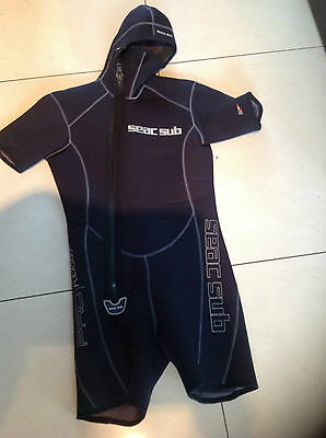 Seac wet-suit with hood  5mm Neoprane  Good Condition