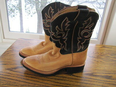 NEW Justin Leather Mens Cowboy Western style Riding Rodeo Boots size 8 1/2 NWOB