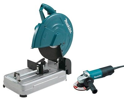 "MAKITA 14"" Cut-Off Saw and 4-1/2"" Angle Grinder PACKAGE KIT LW1400X2 FREE SHIP!"