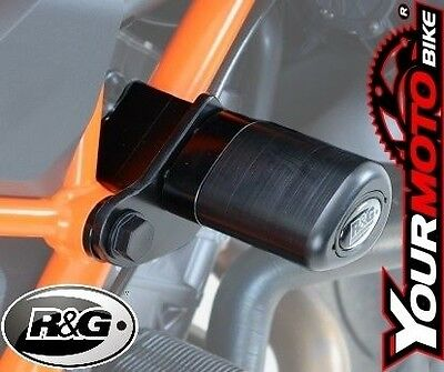 R&G Aero Style Motorcycle Crash Protectors - KTM 1290 Super Duke R 2014 in White
