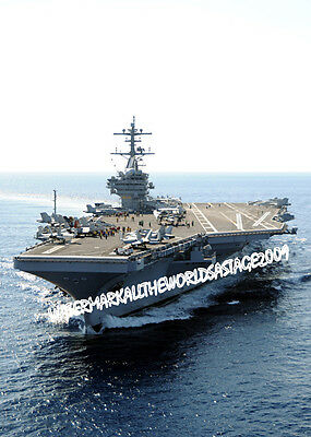 USS George H.W. Bush CVN-77 9x12 Navy Carrier usn Military Warship Vet 9X12