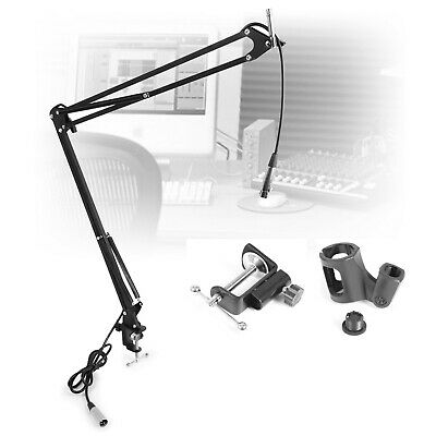 Desktop Table Microphone Stand Boom Mic Scissor Arm Podcast Studio Recording