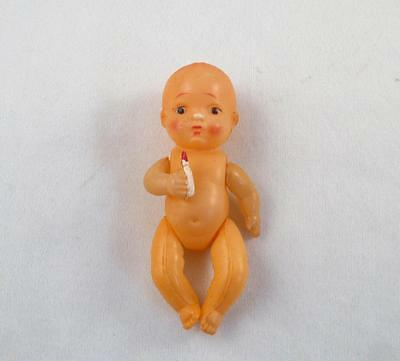 Made In Occupied Japan Celluloid Kewpie Doll With Baby Bottle