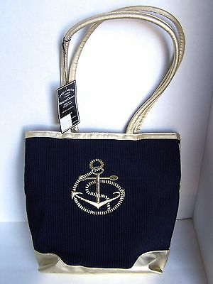 Princess Cruises Unused Nautical Tote Handbag with Ship's Anchor