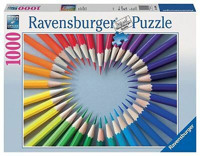 Ravensburger 19390 Color My Heart 1000 Piece Puzzle - New, Sealed