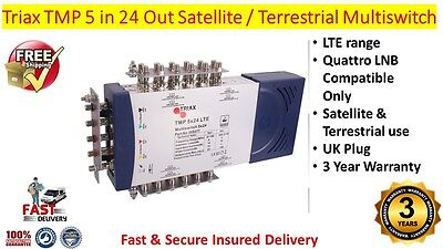 Triax TMP LTE 5 in 24 Out Satellite & Terrestrial Multiswitch Use Quattro LNB