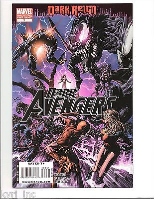 DARK AVENGERS #2 2nd PRINT VARIANT COVER DARK REIGN TIE IN MARVEL DD3