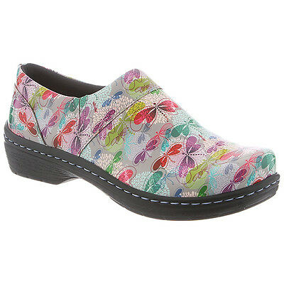 Klogs Footwear Mission Women's Slip-Resistant Leather Clog Dragonfly Size 7-10