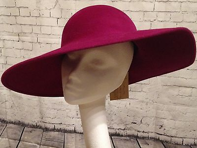 Stunning Designer Philip Treacy Pink/Purple Large Brimmed Hat Wedding/Races