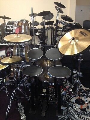 Cymbal silencers/Suppressor bands/Mutes:since 1985: Bill Sanders  Practice Kits