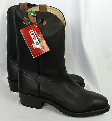 NWT BOULET CSA Steel Toe / Plate Western Black Leather Cowboy Boots 12 EEE NEW