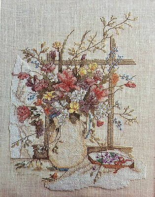 Leisure Arts Counted Cross Stitch Pattern Booklet VICTORIAN BOUQUET Beautiful