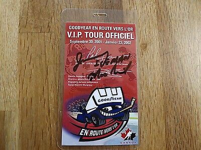 2001 Goodyear Drive for Gold - Signed by Zamboni Driver of Year Jimmy MacNeil