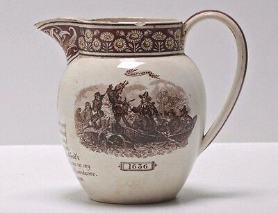 Rare Victorian Antique Ceramic J. Wedgwood & Sons 1886 Pitcher Earthenware Jug