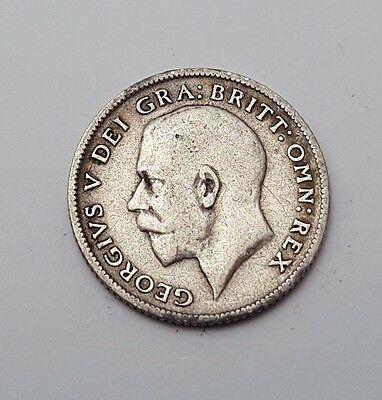 1914 - Silver - 6d / Sixpence - Great Britain - King George V - English UK Coin
