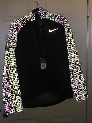 Men's Nike Hypershield Vapor Running Jacket 3M Flash 800903-010 Size Large NWT
