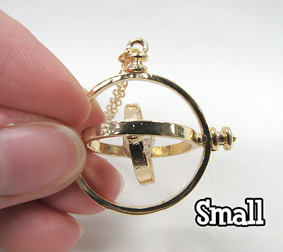 US Seller NEW Harry Potter Time Turner Hermione Granger Rotating Necklace SMALL