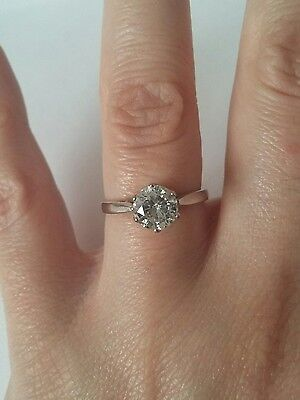 1 Carat Diamond Solitaire, 18 ct White Gold, Engagement ring