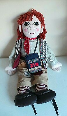 "Rosie And Jim Toy - Large 30"" Jim Canal Boat Narrowboat Rag Doll Vintage Kids TV"