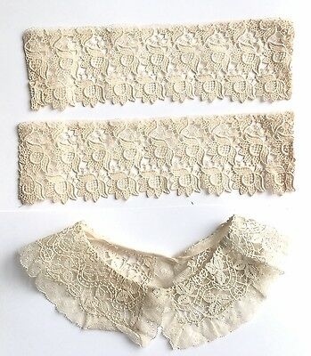 Vintage Girls Lace Collar And Lace Cuffs
