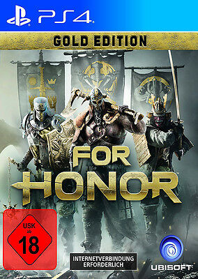 For Honor Gold Edition Ubisoft 2017 Neu New PS4 Playstation 4 BRD / DVD Box