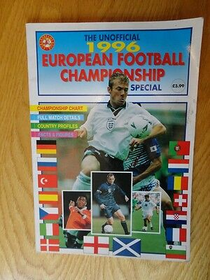Football 1996 European football championship special magazine book
