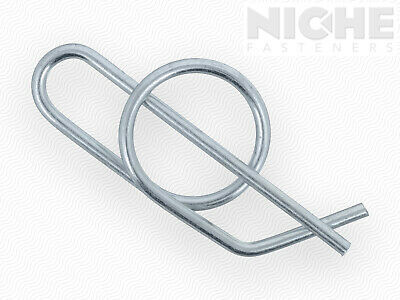Ring Cotter Standard Duty 3/4 Carbon Steel Zinc Clear  (100 Pieces)