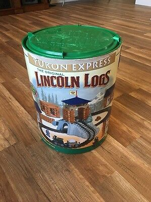 Original Lincoln Logs Yukon Express Building Set by Hasbro Real Wood