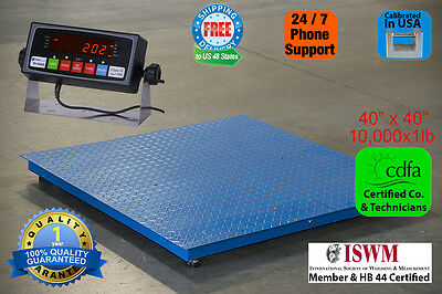 "New 10000x1lb 40""x 40"" Floor/Pallet Scale w/High End Indicator Calibrated in USA"